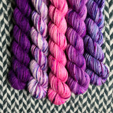 Unicorn Grunge Band *5 Mini-Skein Set* -- Broadway sparkle sock yarn -- ready to ship