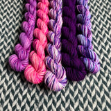 Unicorn Grunge Band *5 Mini-Skein Set* -- Times Square sock yarn -- ready to ship