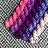 Unicorn Grunge Band *5 Mini-Skein Set* -- Greenwich Village DK yarn -- ready to ship