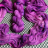 BUBBLEGUM DANCE --  Greenwich Village DK merino yarn -- ready to ship