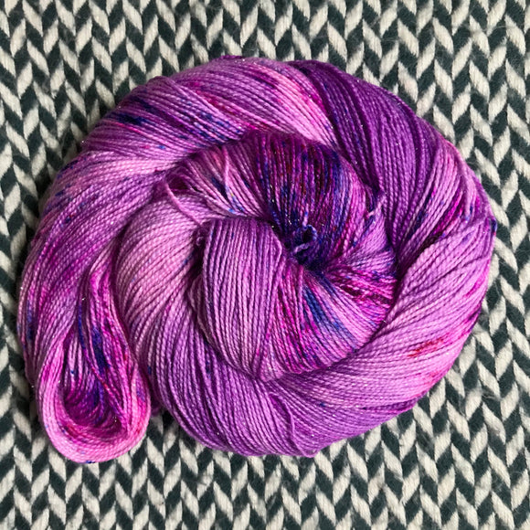 BUBBLEGUM DANCE -- Broadway sparkle sock yarn -- ready to ship