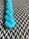 Eau Electrique -- mini-skein -- Randall's Island sport yarn -- ready to ship