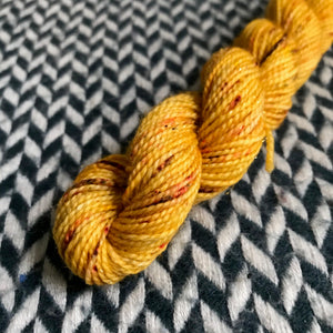 Queen Bee -- mini-skein -- Broadway sparkle sock yarn-- ready to ship