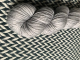 INTREPID --  Broadway Silver Sparkle sock yarn -- ready to ship
