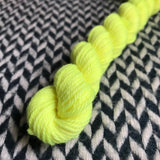 Citron Toxique -- mini-skein -- Kew Gardens DK yarn -- ready to ship