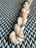 My Favorite Drummer -- mini-skein -- Broadway sparkle sock yarn-- ready to ship