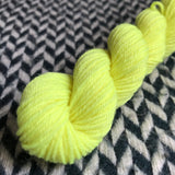 Citron Toxique -- mini-skein -- Times Square sock yarn -- ready to ship