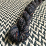 Bejeweled Slate -- mini-skein -- Times Square sock yarn -- ready to ship