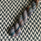 Bejeweled Jasper -- mini-skein -- Times Square sock yarn -- ready to ship