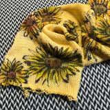 SUNFLOWERS -- hand-painted double-stranded sock blank -- ready to ship