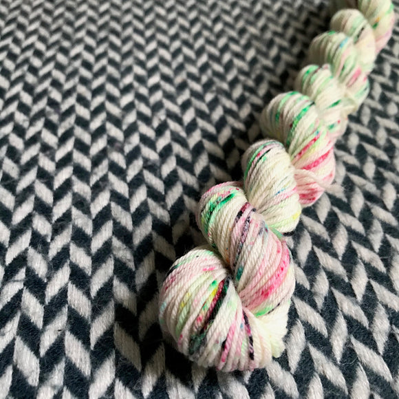 Rainbow Sprinkles -- mini-skein -- Times Square sock yarn -- ready to ship