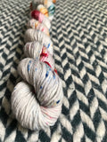 Bejeweled Moonstone -- mini-skein -- Times Square sock yarn -- ready to ship