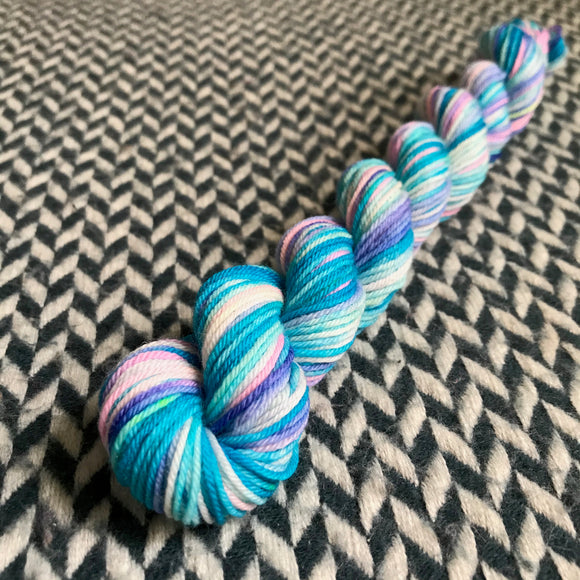 Hippocampus -- mini-skein -- Times Square sock yarn -- ready to ship