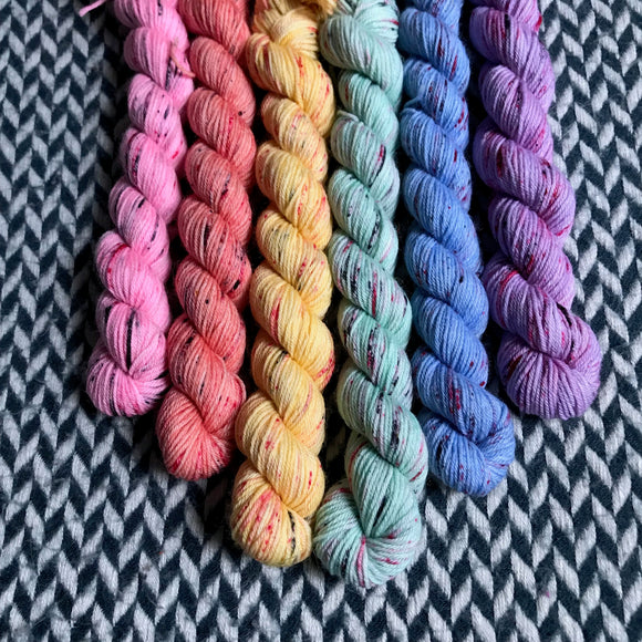 I <3 NY T-Shirt Collection *6 Mini-Skein Set* -- Times Square sock yarn -- ready to ship