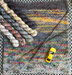 Steampunk Taxi Cab *5 Mini-Skein Set* -- Times Square sock yarn -- ready to ship