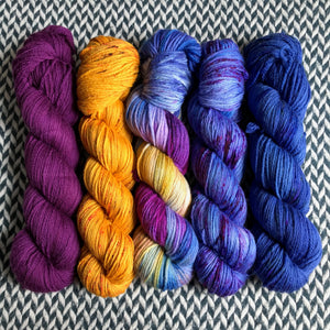MOONWAKE *5 Skein Set* -- dyed to order yarn