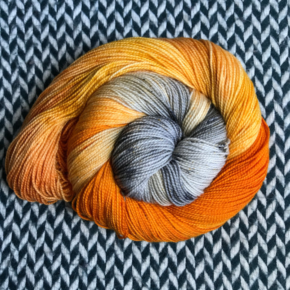 MONARCH CLOWNFISH -- Harlem sock yarn -- ready to ship
