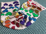 LOVE IS LOVE -- hand-painted sock blank -- dyed to order yarn