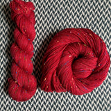 HEART -- Alphabet City tweed sock yarn -- ready to ship
