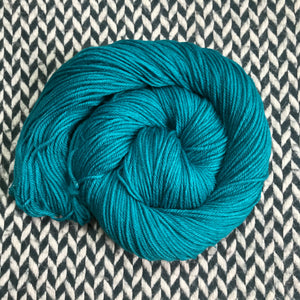 TEAL OWL -- Kew Gardens DK yarn -- ready to ship
