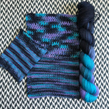 FLUX SHIFT -- Broadway sparkle sock yarn -- ready to ship