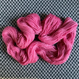 PINK IONS -- dyed to order yarn