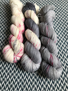 I <3 NY in the RAIN *3 Skein Set*-- Times Square sock yarn --ready to ship