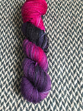 ORCHID MANTIS -- Tribeca sparkle DK yarn -- ready to ship