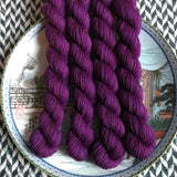 Velveteen -- mini-skeins -- Times Square sock yarn-- ready to ship