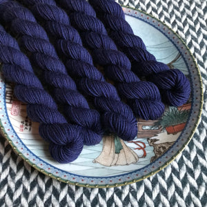 Navy Storm -- mini-skein -- Times Square sock yarn-- ready to ship