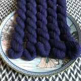 Navy Storm -- mini-skeins -- Times Square sock yarn-- ready to ship