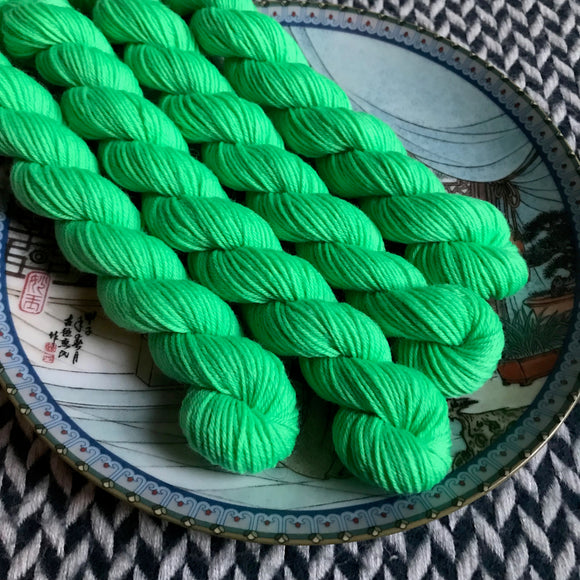 St Patrick's Day Parade -- mini-skein -- Times Square sock yarn-- ready to ship