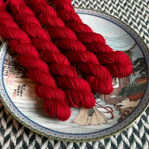 Heart -- mini-skeins -- Times Square sock yarn-- ready to ship