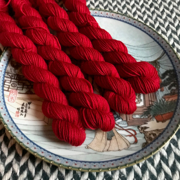 Heart -- mini-skein -- Times Square sock yarn-- ready to ship