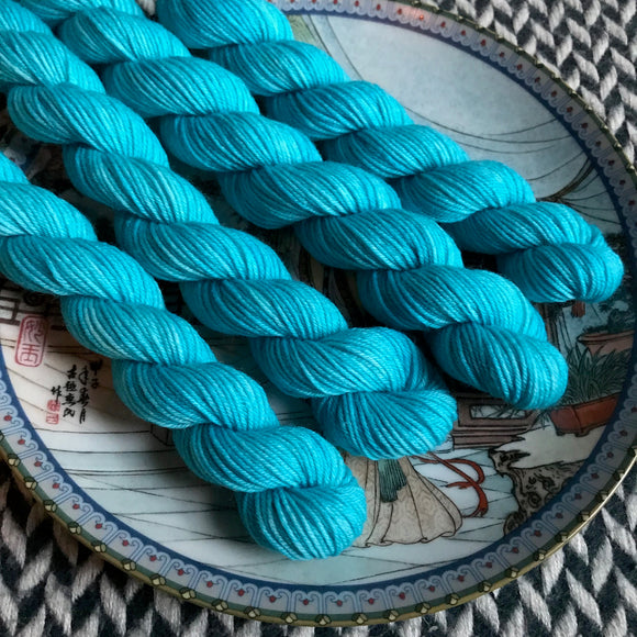 The Life Aquatic -- mini-skeins -- Times Square sock yarn -- ready to ship