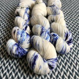 WHITE JEANS -- Times Square sock yarn -- ready to ship