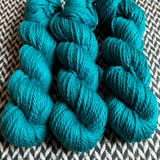 TEAL OWL -- Flushing Meadows bulky weight yarn -- ready to ship