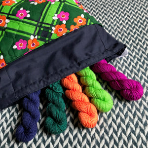FUNKY GRANNY -- project bag -- ready to ship