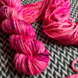 I'M A BARBIE GIRL --  Flushing Meadows bulky merino yarn -- ready to ship