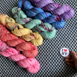 I <3 NY T-SHIRT COLLECTION *6 Skein Set* -- Greenwich Village DK -- ready to ship yarn