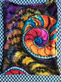 FRACTALS -- hand-painted sock blank -- dyed to order