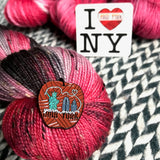 YARN OVER THE BIG APPLE COLLECTIBLE ENAMEL PIN -- ready to ship