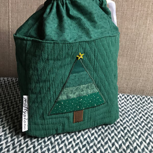 CHRISTMAS TREES GREEN -- project bag -- ready to ship