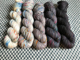 BEJEWELED *5 Skein Set* -- dyed to order yarn