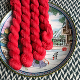 Flambe Puree -- mini-skeins -- Times Square sock yarn-- ready to ship