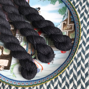 Blackbird -- mini-skein -- Times Square sock yarn -- ready to ship