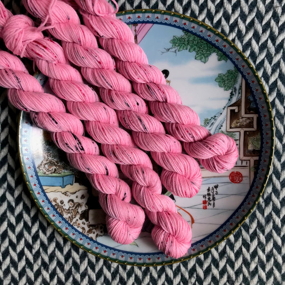 I <3 NY Pink T-Shirt -- mini-skein -- Times Square sock yarn-- ready to ship