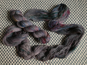 Deep Plum -- mini-skeins -- Times Square sock yarn-- ready to ship
