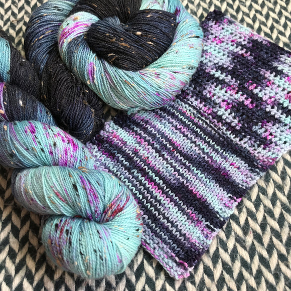 Blackbird -- mini-skeins -- Randall's Island sport yarn -- ready to ship