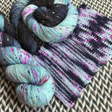 GRILLED BLUEBERRIES  -- Alphabet City tweed sock yarn -- ready to ship